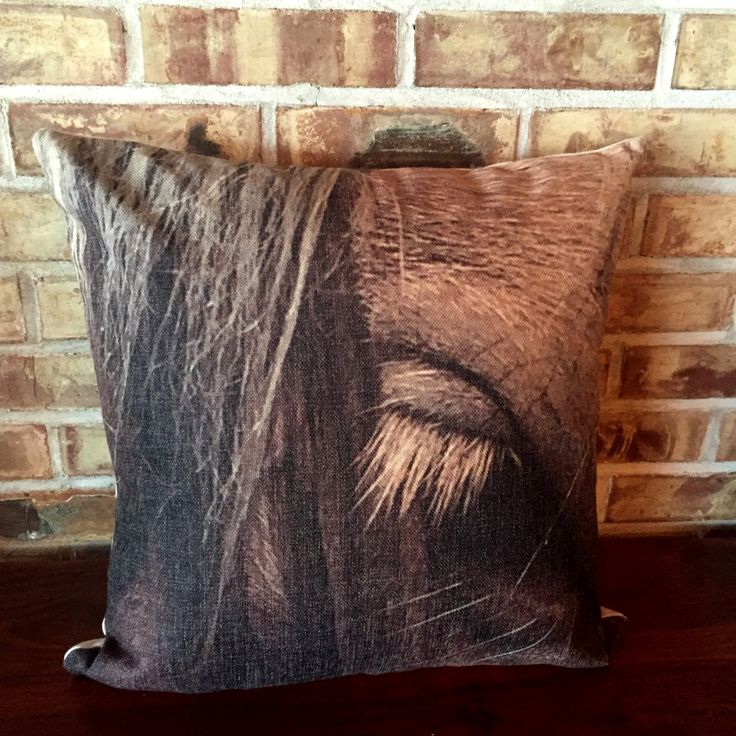 Rustic Modern Décor Connie Eye Pillow Cover by HorseEyeDesigns on Etsy