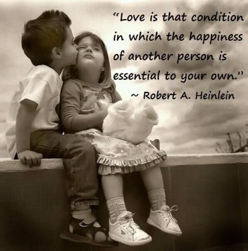 """Love is that condition in which the happiness of another person is essential to your own."" -Robert A. Heinlein #lovequotes"