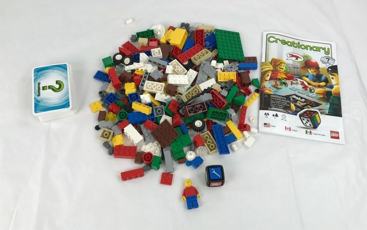 Creationary Lego Board Game Minifig Dice Cards Pieces Replacement Parts #Lego