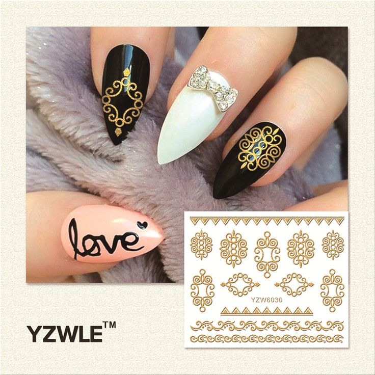 YZWLE 1 Sheet  Hot Gold 3D Nail Art Stickers DIY Nail Decorations Decals Foils Wraps Manicure Styling Tools (YZW-6010) #>=#>=#>=#>=#> Click on the pin to check out discount price, color, size, shipping, etc. Save and like it!