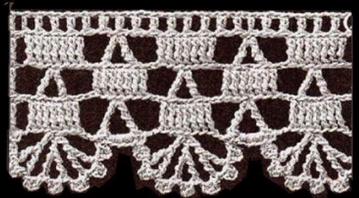Materiales gráficos Gaby: Patrones de puntillas en crochet