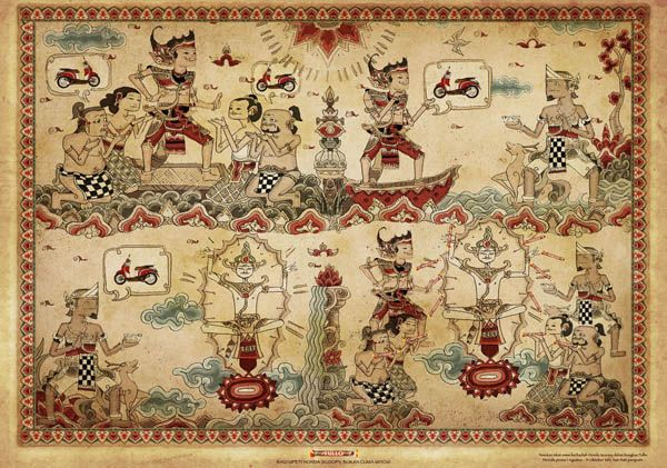 balinese artists and paintings | Bali art merged into advert | Art and design inspiration from around ...