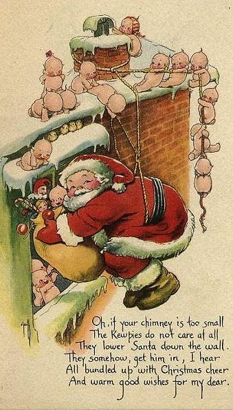 Looks like Santa had to many cookies and milk. . . ho, ho, ho!