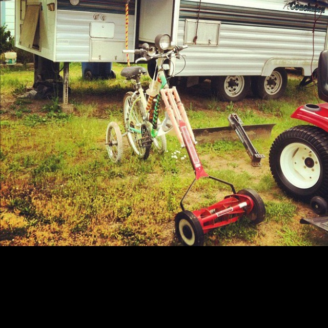 Riding lawn mower for sale.