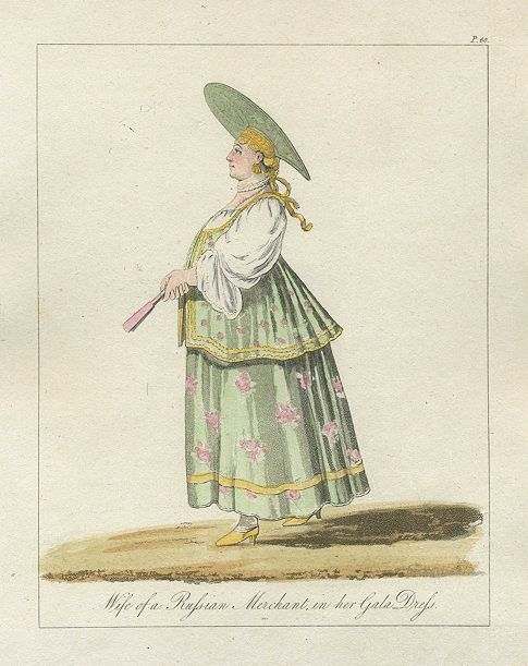 Russia, Moscow, Wife of a Russian Merchant in her Gala Dress, 1796
