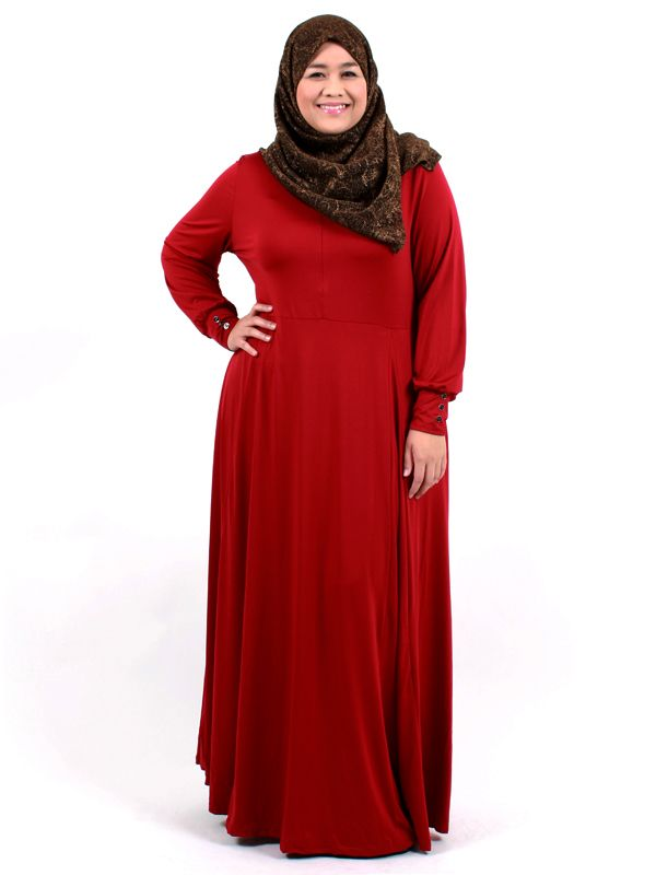dark red long lycra dress for the plus size. :D visit www.misclaire.com and liked our facebook page www.facebook.com/plussize.misclaire  #curvy #muslimah #jubah #dress #abaya #plus #size #8xl #misclaire #malaysia