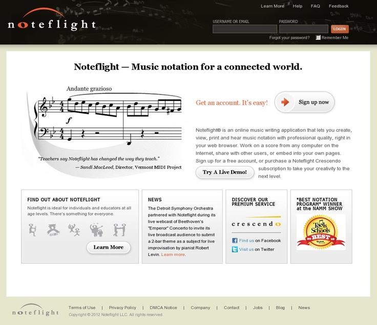 Es una aplicación para escribir música en línea que permite crear, ver, imprimir y escuchar la notación de música con calidad profesional y reproducirse en el navegador de Internet. Estas operaciones se hacen utilizando el teclado y el mouse.