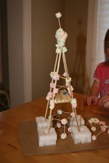 toothpick/marshmallow structures