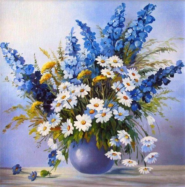 Fotografiya Flower Painting Watercolor Flowers Floral Art