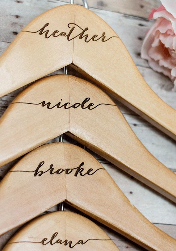 best 25 name hangers ideas on pinterest diy wedding hangers Wedding Hangers With Names 8 personalized bridesmaid hangers name hanger engraved wooden bridal hanger with notched shoulders wedding hangers with names