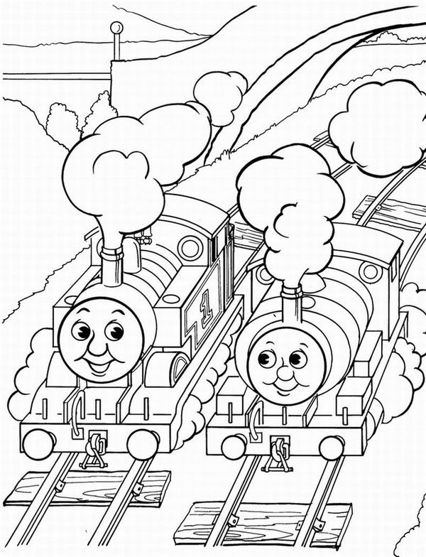 Thomas And Friends Coloring Page Printables Pages Train Rhpinterest: Happy Birthday Thomas The Train Coloring Pages At Baymontmadison.com
