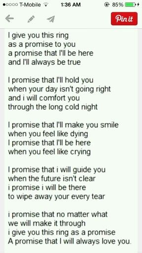 If a guy gives me a promise ring, this is what it means.