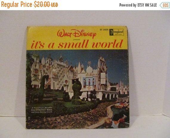 ON SALE IT'S a Small World Vinyl Record Album - Disneyland Music by CellarDeals on Etsy