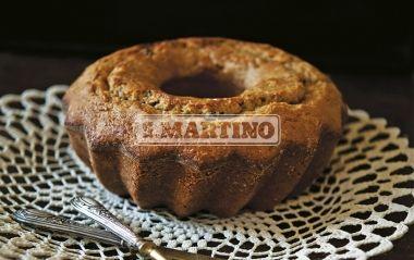 CIAMBELLA INTEGRALE ALLA RICOTTA 1 prepared for Miscela Integrale per Torte e Biscotti (our whole Mix for cakes and biscuits), 250 g of ricotta, 4 eggs, 100 g of brown sugar, 100 g of raisin, 1 untreated lemon, Icing Sugar. Ring-shaped Cake with raisin. #dessert #cake #ilovesanmartino