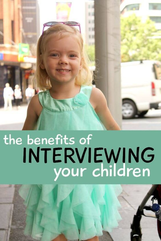 The benefits of interviewing your kids. A great thing to do with your toddlers and preschoolers to help them develop confidence in asking questions.