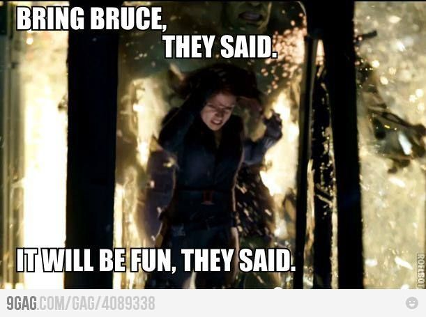 Bring Bruce Banner, they said...