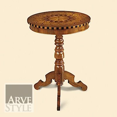 tavolino rotondo intarsiato collezione Michelangelo