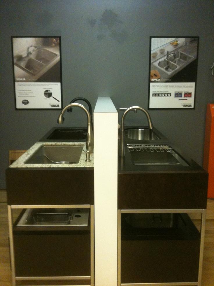 kohler kitchen sink displays our denver showroom pinterest display sinks and kitchen sinks - Kitchen Sink Displays