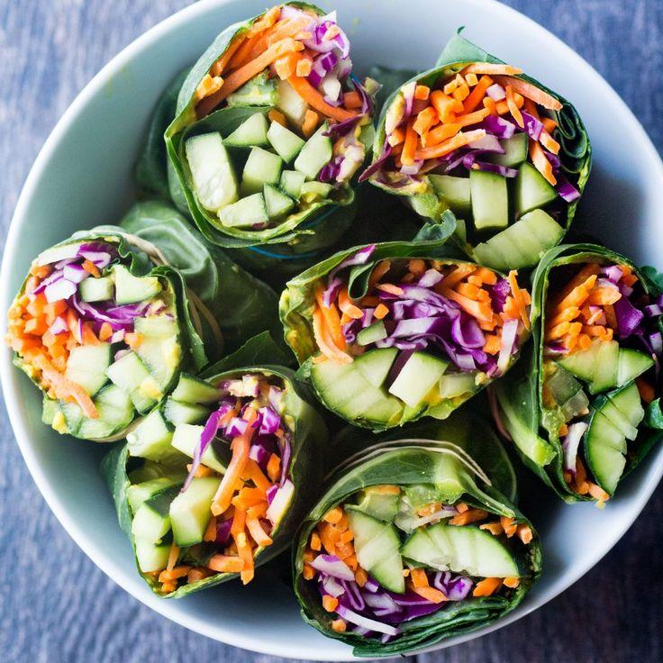 Bereit für einen Reset? Diese grünen Wraps mit Detox-Collard-Effekt eignen sich hervorragend für die Zubereitung von Mahlzeiten …   – yum