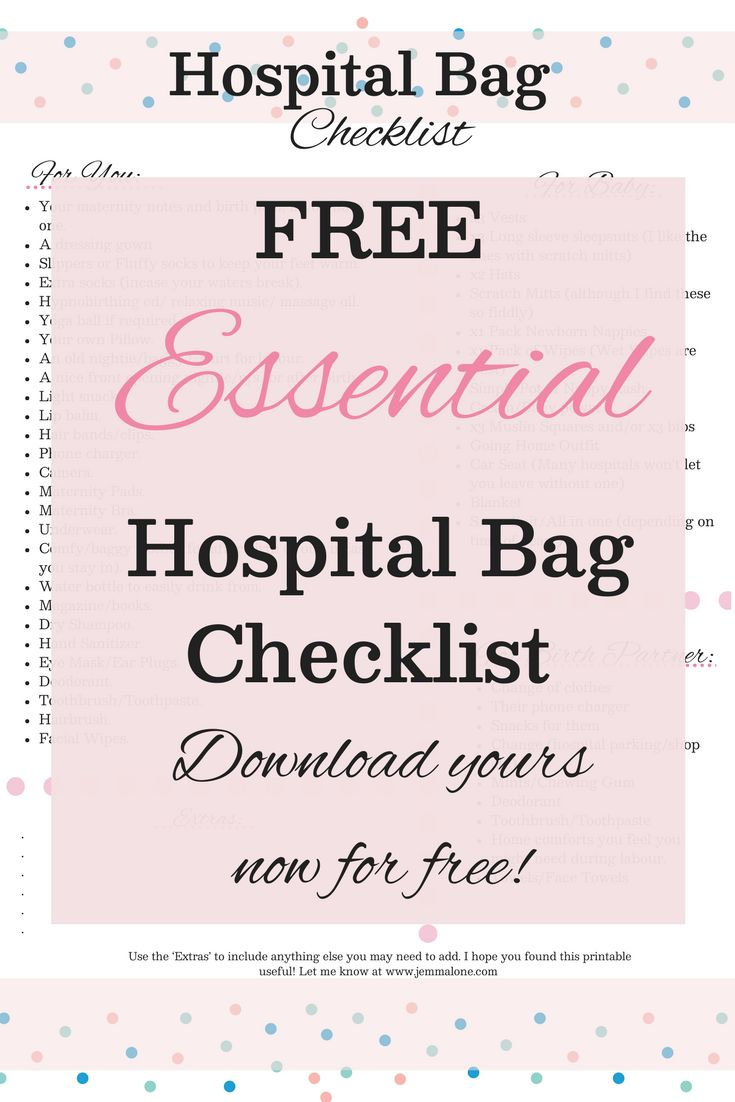What to pack in your hospital bag for baby | Third Trimester | Giving Birth | Packing hospital bag   The essential guide for packing your hospital bag. Download this FREE printable for all your must have items!