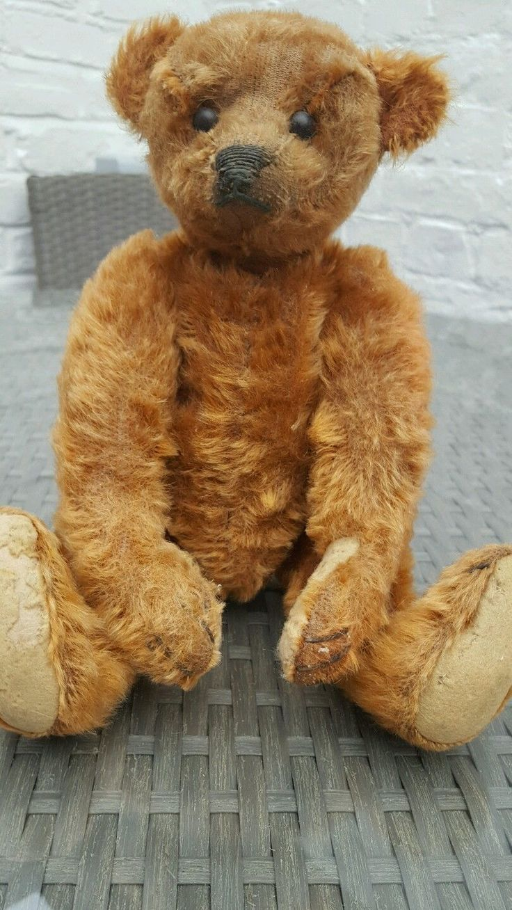 "ANTIQUE 1900'S CINNAMON STEIFF BEAR 12"" in Speelgoed en spelletjes, Teddyberen…"