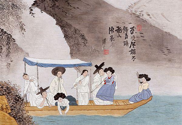 혜원(惠園) 신윤복(申潤福). 주유청강