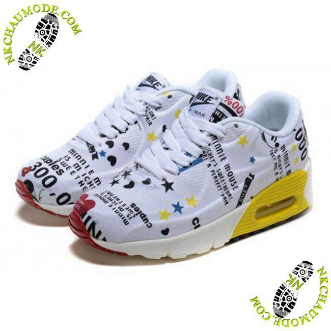 magasin de chaussure nike air max 90 Enfant Mickey Minnie Blanc Jaune