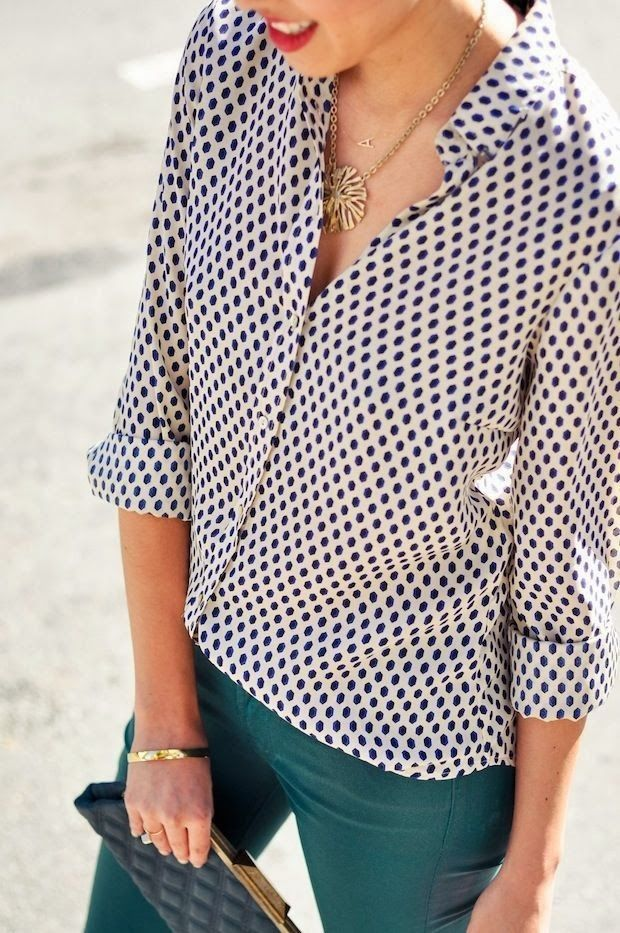 Black Dotted Blouse With Dark Color Paint