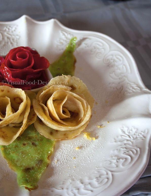 rose di crêpes visualfood