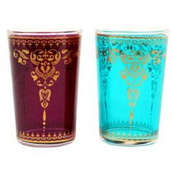 Moroccon tea glasses. We also drink wine with something similar.