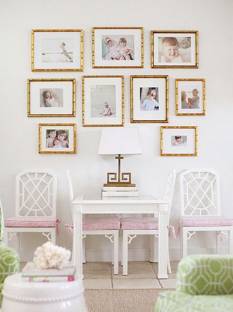 {decor inspiration   two lovely things : pink silk & gallery walls} by {this is glamorous}, via Flickr