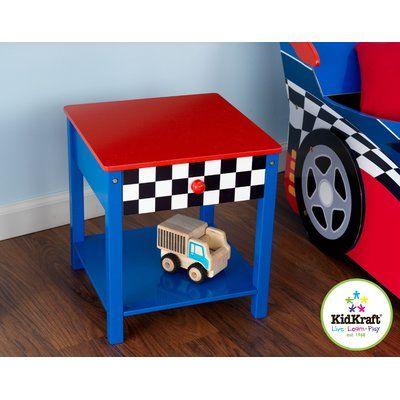 KidKraft Race Car 1 Drawer Nightstand | Race car bedroom ...