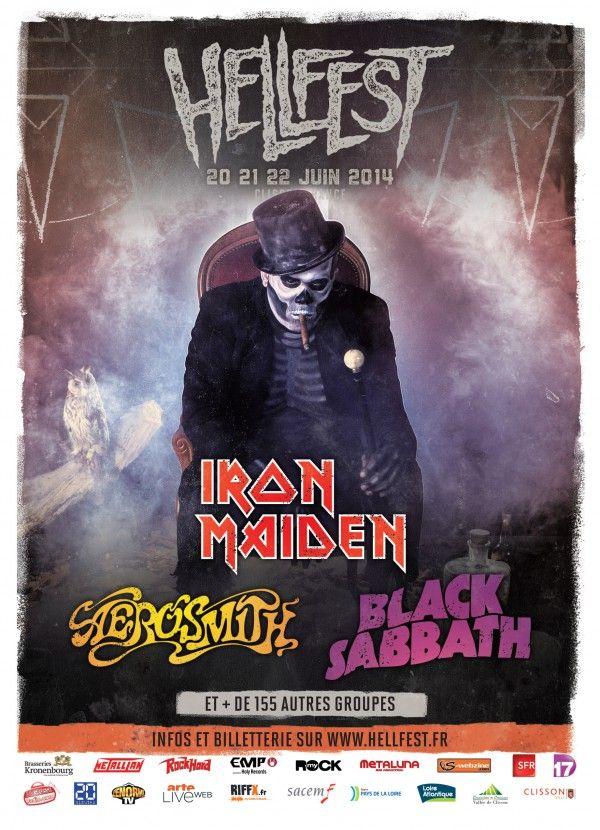 Deuxième affiche - Hellfest 2014