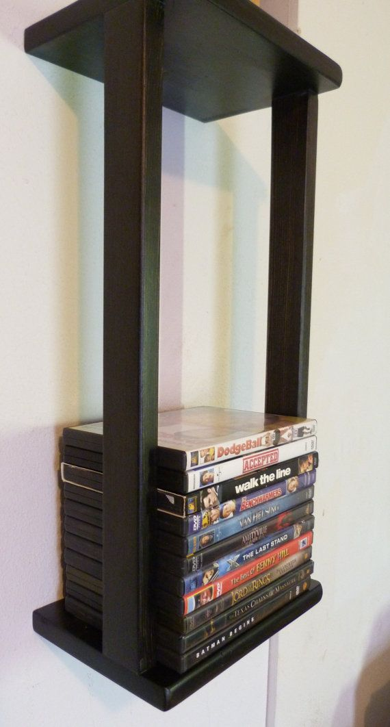 31 DVD BluRay Games Tower Stand Organizer Rack Shelf by Boxofwood