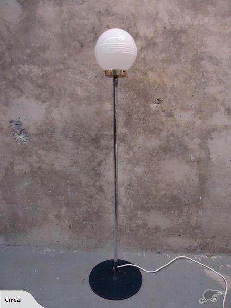 Vintage glass globe standard lamp trade me