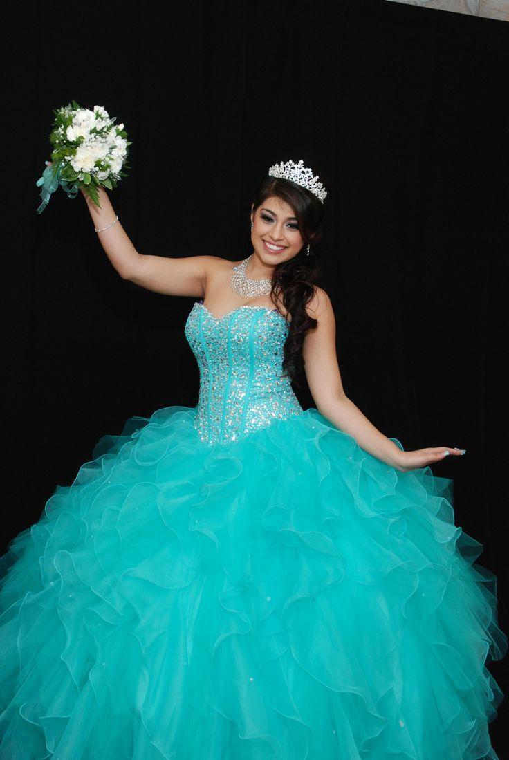 mint blue quince dresses | Tiffany blue quinceanera dress