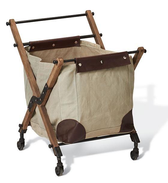 vintage canvas bin on wheels laundry bin mobile laundry hamper laundry basket