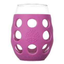 Lifefactory Small Wine Glasses with Huckleberry Silicone Sleeve $25.98 - from Well.ca
