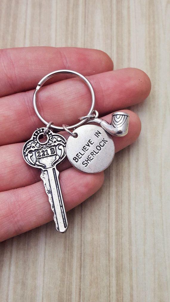 Sherlock Holmes Keyring Sherlock Keychain 221B Baker Street