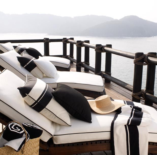Black and white provincial exterior!! Maybe a sunlounge or day bed with this look! Exactly! X