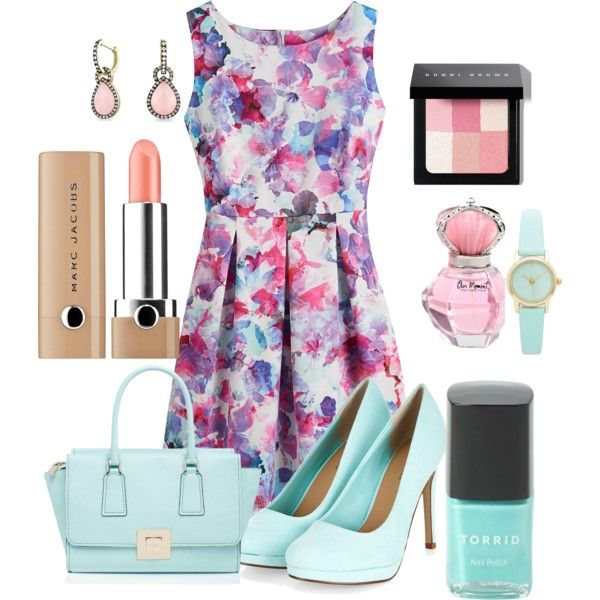 Spring bloom by edna1965 on Polyvore featuring Kate Spade, Bling Jewelry, Bobbi Brown Cosmetics and Marc Jacobs