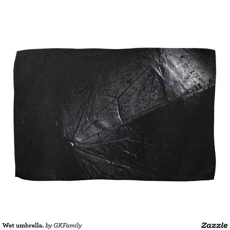 Wet umbrella. towel