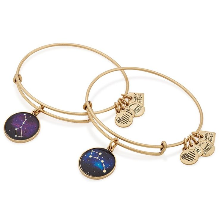 ALEX AND ANI | Big and Little Dipper Set of Two Charm Bangles | Big Brother, Big Sisters of America