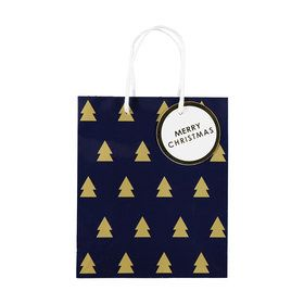 Medium Gold Tree Christmas Gift Bag