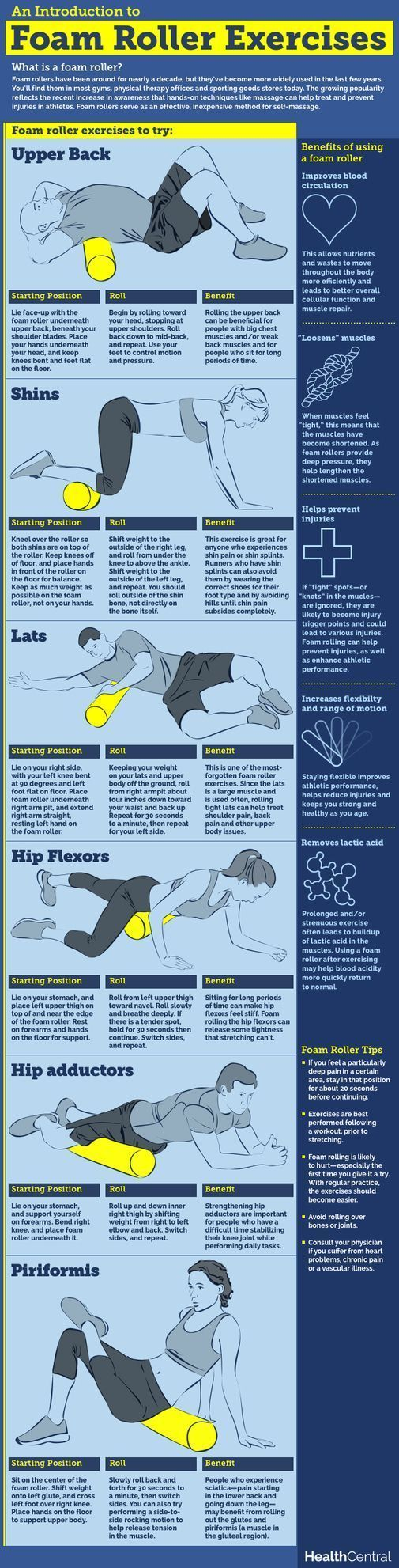 Use These Pinterest Workouts for Your Next Home-Based Routine: Foam Roller Workout