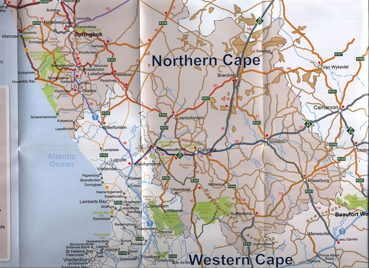 https://flic.kr/p/EVVo8d | Experience Namakwa Northern Cape Route Map; 2013_2, South Africa | tourism travel brochure | by worldtravellib World Travel library