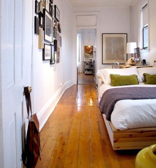 Interesting Use For A Long Narrow Room Tiny ApartmentsStudio ApartmentsApartment TherapyApartment