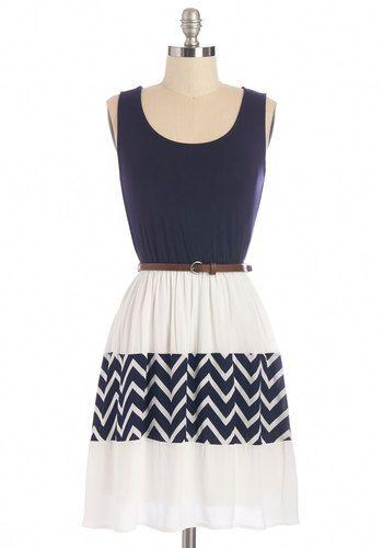 Vestido  azul con blanco. 3modanautica