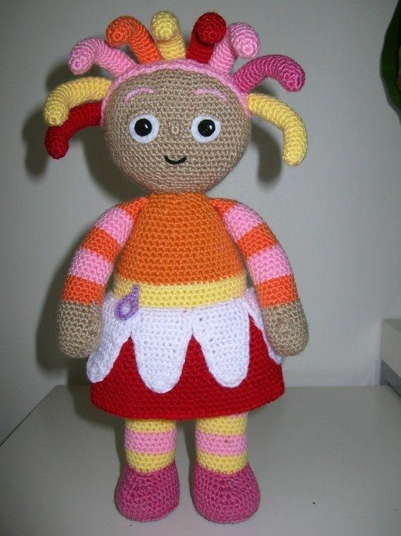 Knitting Pattern For Iggle Piggle Toy : Tombliboo Eee,Makka Pakka,Upsy Daisy and Iggle Piggle - 4 PDF crochet pattern...