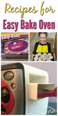 This page contains Easy Bake Oven recipes. Those little packages of mix for the Easy Bake oven can be pricey.